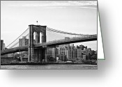 Bill Cannon Greeting Cards - On the Brooklyn Side Greeting Card by Bill Cannon