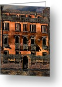 Places In Venice.venecia.venezia.venice Greeting Cards - On the Canal Greeting Card by Tom Prendergast