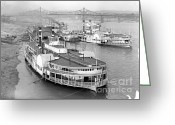 Indiana Rivers Greeting Cards - On the Cincinnati Levee 1905 Greeting Card by Padre Art