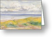 Pierre Renoir Greeting Cards - On the Cliffs Greeting Card by Pierre Auguste Renoir