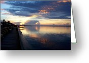 Jensen Beach Greeting Cards - On the Dock of the Bay Greeting Card by Joyce L Kimble