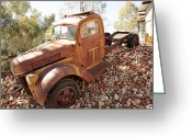 Chev Pickup Greeting Cards - On the Edge Greeting Card by James Mcinnes