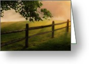 Fence Greeting Cards - On the fence Greeting Card by Bill  Wakeley