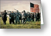 Muskets Greeting Cards - On the Field of Battle Greeting Card by Lyle Hatch