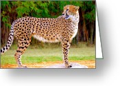 Animal Hunting Greeting Cards - On the hunt Greeting Card by David Lee Thompson