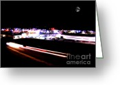 Nightlight Greeting Cards - On the Move Greeting Card by Lj Lambert