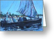 River Pastels Greeting Cards - On the Nile Greeting Card by Joan  Jones