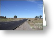Old Country Roads Greeting Cards - On The Open Road Greeting Card by Josephine Caruana