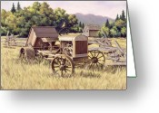 Split-rail Fence Greeting Cards - On The Podium Greeting Card by Richard De Wolfe