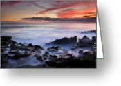 Tides Greeting Cards - On the Red Rocks Greeting Card by Mike  Dawson