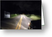 Blacktop Greeting Cards - On the Road 1 Greeting Card by Chuck Taylor