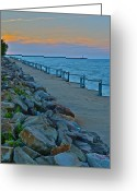 Ship-wreck Greeting Cards - On the Rocks Greeting Card by Robert Harmon