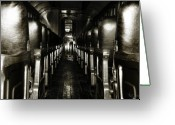 Train Car Greeting Cards - On the Train Greeting Card by Scott Hovind