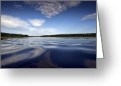 Camelot Greeting Cards - On the water Greeting Card by Gary Eason
