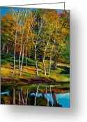 Aspen Trees Greeting Cards - Once in a Lifetime Greeting Card by Johnathan Harris