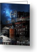 Factories Greeting Cards - Once Upon A Time In The Sleepy Town of Crockett California - 5D16760 - Vertical Cut Greeting Card by Wingsdomain Art and Photography
