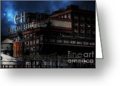 Factories Greeting Cards - Once Upon A Time In The Sleepy Town of Crockett California . 5D16760 Greeting Card by Wingsdomain Art and Photography