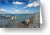 Fyn Greeting Cards - Once Was A Jetty Greeting Card by Robert Lacy