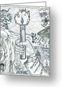Inspirational Drawings Greeting Cards - One Candle Greeting Card by Glenn McCarthy Art and Photography
