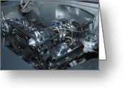 Hotrod Photo Greeting Cards - One Clean Machine Greeting Card by Richard Henne