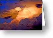 Storm Prints Photo Greeting Cards - One Cloudy Afternoon Greeting Card by James Steele