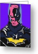 Superman Digital Prints Greeting Cards - One Crazy Bat Greeting Card by Robert Margetts