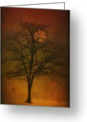 Book Cover Greeting Cards - One Lonely Tree Greeting Card by Thomas York