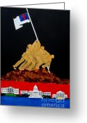 Revolutionaries Greeting Cards - One Nation Under God Greeting Card by Scott Pelham