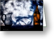 Abstract Greeting Cards - One Red Bottle Greeting Card by Bob Orsillo
