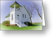 Christine Belt Greeting Cards - One Room School House No.3 Greeting Card by Christine Belt