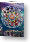 Sacred Digital Art Greeting Cards - Oneness Greeting Card by Arie Van der Wijst