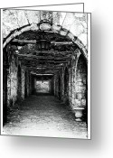 Alamo Greeting Cards - Only Exit Greeting Card by John Rizzuto