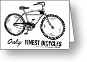 Addison Greeting Cards - Only Finest Bicycles Greeting Card by Karl Addison