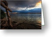 Syracuse Greeting Cards - Onondaga Lake Greeting Card by Everet Regal