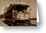 Trolley Greeting Cards - Open air trolley Greeting Card by David Lee Thompson