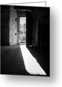 Shade Greeting Cards - Open door Greeting Card by Gabriela Insuratelu