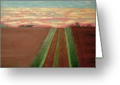 Open Road Painting Greeting Cards - Open Field Greeting Card by Danny Magers