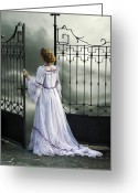 Sinister Greeting Cards - Open Gate Greeting Card by Joana Kruse