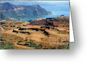 Environmental Damage Greeting Cards - Open-pit mining at Poro in New Caledonia Greeting Card by Sami Sarkis