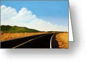 Open Road Painting Greeting Cards - Open Road Greeting Card by Norm Holmberg