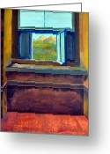 Wood Floor Greeting Cards - Open Window Greeting Card by Michelle Calkins