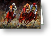 Churchill Downs Greeting Cards - Opening Day Greeting Card by Debra Hurd