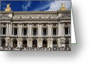 Roof Greeting Cards - Opera Garnier. Paris. France Greeting Card by Bernard Jaubert