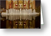 Metropolitan Opera Nyc Greeting Cards - Opera House Reflections Greeting Card by Susan Candelario