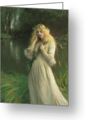 Adolphe Greeting Cards - Ophelia Greeting Card by Pascal Adolphe Jean Dagnan Bouveret
