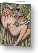 Sensual Art Greeting Cards - Opium Dreamer Greeting Card by Catherine Abel