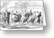 Narcotic Greeting Cards - Opium Traffic, 1857 Greeting Card by Granger