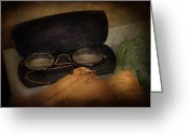 Healer Greeting Cards - Optometrist - Glasses for Reading  Greeting Card by Mike Savad