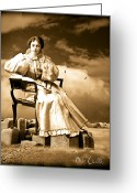 Surreal Photo Greeting Cards - Oracle Greeting Card by Bob Orsillo