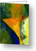 Color Image Painting Greeting Cards - Orange and Blue Color Study  Greeting Card by Michelle Calkins